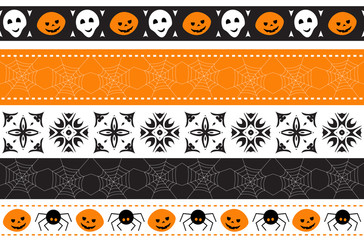 Seamless Halloween border. Vector illustration.
