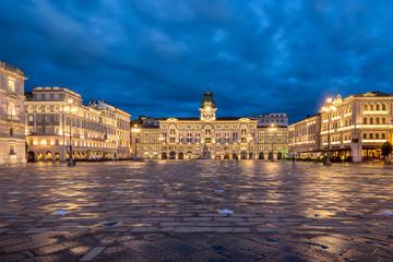 Piazza Dell Unita D'Italia in the city of Trieste in Italy