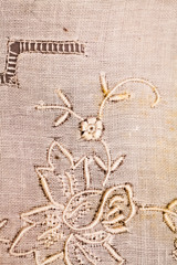 Vintage textile texture with beautiful, fine embroidery
