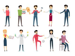 Set of School Teacher Characters