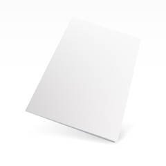 Blank Cover Of Magazine, Book, Booklet Or Brochure Template