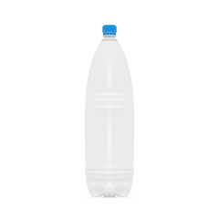 Empty Clean Plastic Bottle Template