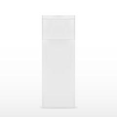Square Cosmetic Or Hygiene White Plastic Bottle Of Gel, Liquid Soap, Lotion, Cream, Shampoo