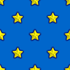 seamless pattern with yellow stars