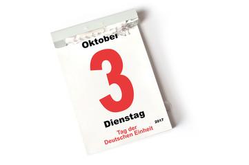 3. Oktober 2017 Tag der Deutschen Einheit