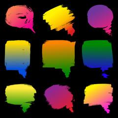 color speech bubble