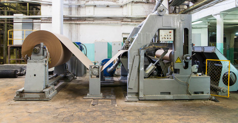 Machine at paper manufacture