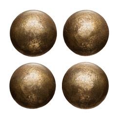 Fototapete - Old metal rivet heads