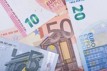 Euro money background. Euro banknotes. European Union Currency