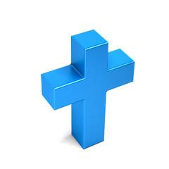 Chriistian Cross. 3D Rendering Illustration
