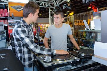 in the disk jockey store