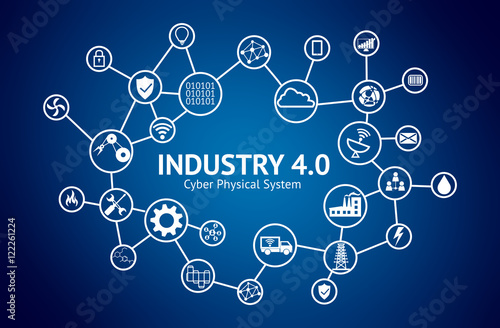 Quot Industrial 4 0 Cyber Physical Systems Concept Icon Of