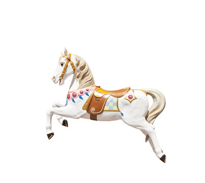 classic isolated carousel horse