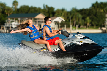 Couple on Personal Water Craft