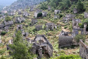 Ghost town of Kayakoy (Turkey)