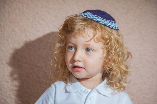 Adorable Jewish child