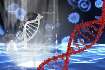 DNA and virus graphic design
