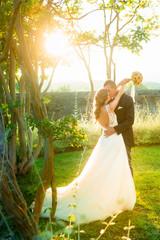Bellissimi sposi nel mondo delle favole
