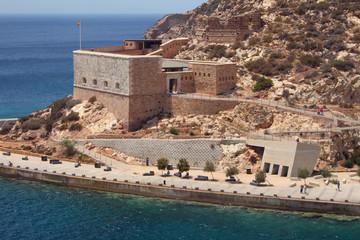 Christmas fort. Cartagena, Spain