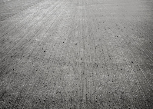 Concrete floor aircraft runaway
