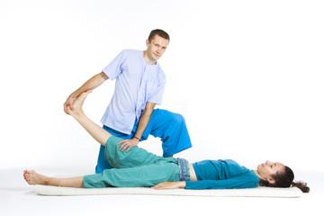 Massage parlor/Various techniques of Thai massage