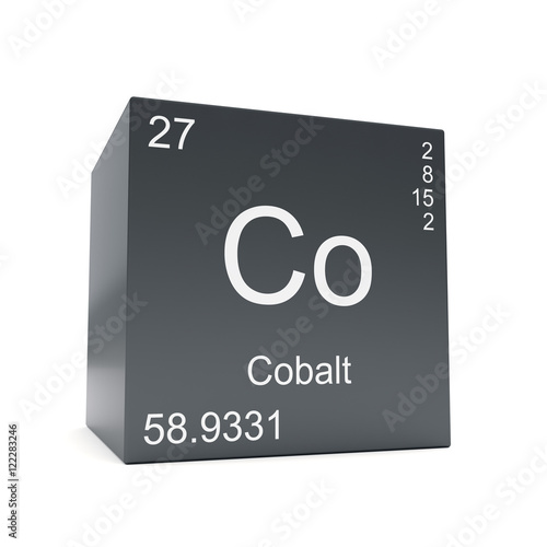 Cobalt Chemical Element Symbol From The Periodic Table Displayed On