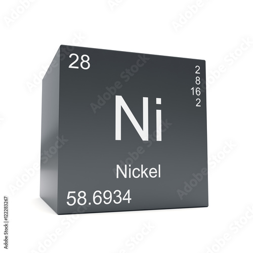 Nickel Chemical Element Symbol From The Periodic Table Displayed On