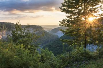 Sunrise At Letchworth State Park