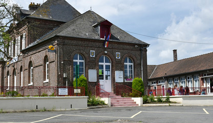 Sommery, France - june 23 2016 : city hall