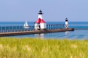 St. Joseph, Michigan Lighthouses on Lake Michigan