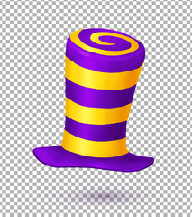 Violet and yellow colors striped realistic vector ca