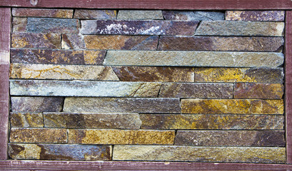 sample facing stones of different colors in stock