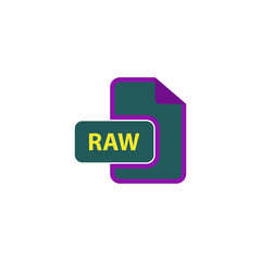 RAW Icon Vector