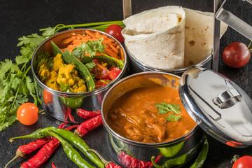 インドカレー  chapati and curry lunch