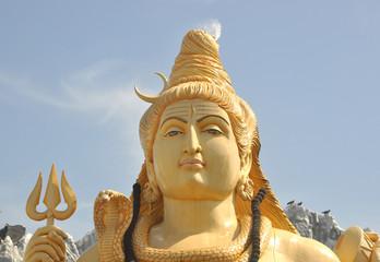 Lord Shiva statue in Bangalore City, India.