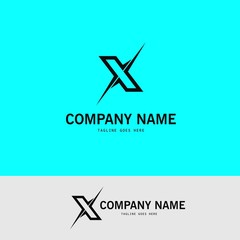 letter X abstract logo