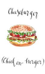 Big American cheeseburger