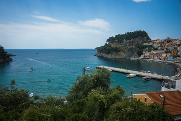 Wall Murals Turkey Cityscape with sea at Parga in Greece