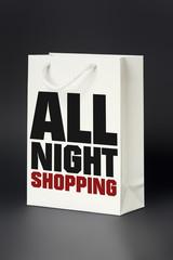 white shopping bag all night shopping