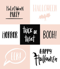 Halloween overlays. Lettering template.