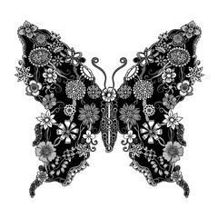 Decorative ornate butterfly