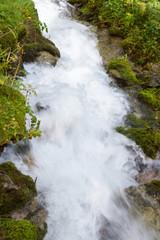 rapid flow in the creek