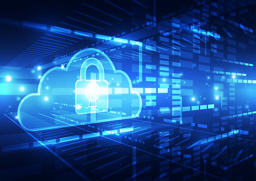 Abstract security cloud technology background. Illustration Vector