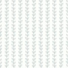 Hand Drawn Leaves Seamless Pattern.