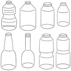 vector set of bottle