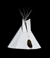 Native American Teepee isolated