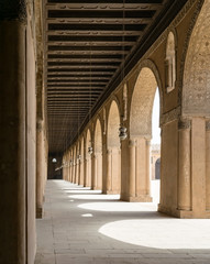 Passages in a historic mosque, Cairo, Egypt