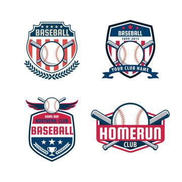 Baseball badge set,sport logo collection,team identity,vector il