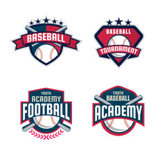 Baseball badge set,sport logo collection,team identity,vector il