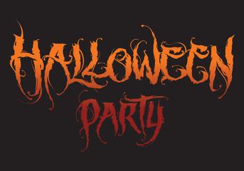 Hand drawn halloween lettering